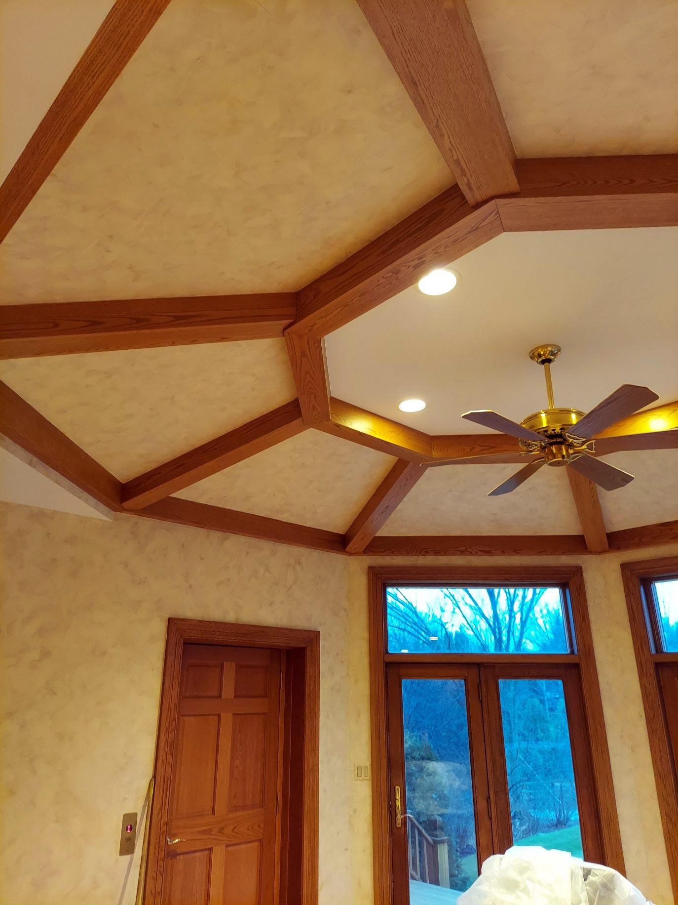 Wooden insert ceiling